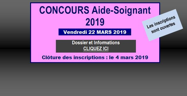 Concours AS 2019